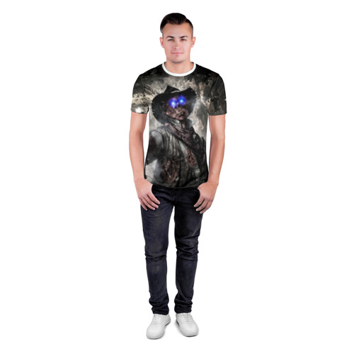 Мужская футболка 3D спортивная  Фото 04, Зомби