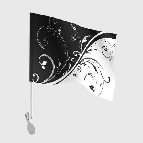 Флаг для автомобиля Завитки Фото 01