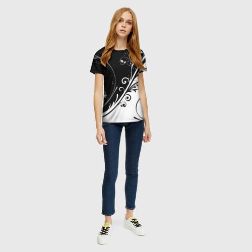Женская футболка 3D Завитки Фото 01