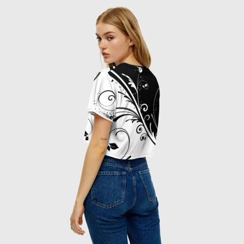 Женская футболка Crop-top 3D Завитки Фото 01