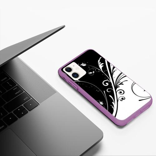 Чехол для iPhone 11 матовый Завитки Фото 01