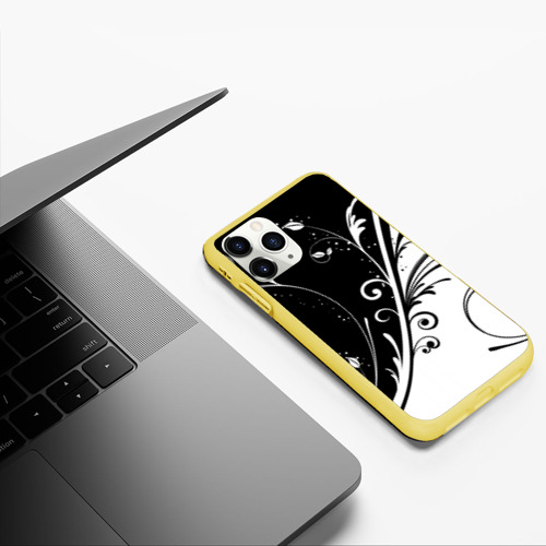 Чехол для iPhone 11 Pro матовый Завитки Фото 01
