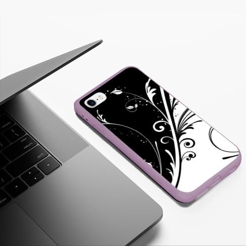 Чехол для iPhone 6/6S Plus матовый Завитки Фото 01