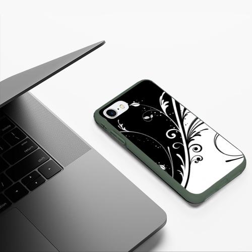 Чехол для iPhone 7/8 матовый Завитки Фото 01