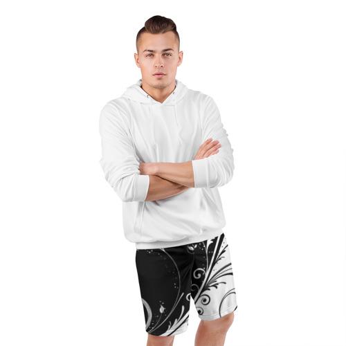 Мужские шорты спортивные Завитки Фото 01