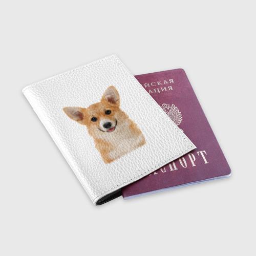 Обложка для паспорта матовая кожа  Фото 03, Пемброк-вельш-корги