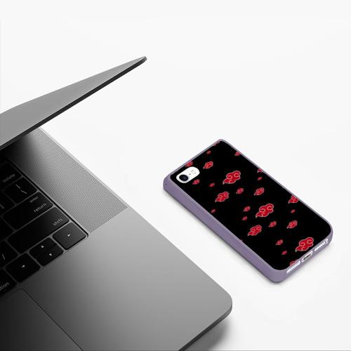 Чехол для iPhone 5/5S матовый Akatsuki (Кровавое облако) Фото 01