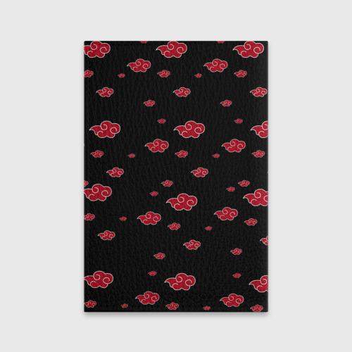 Обложка для паспорта матовая кожа Akatsuki (Кровавое облако) Фото 01