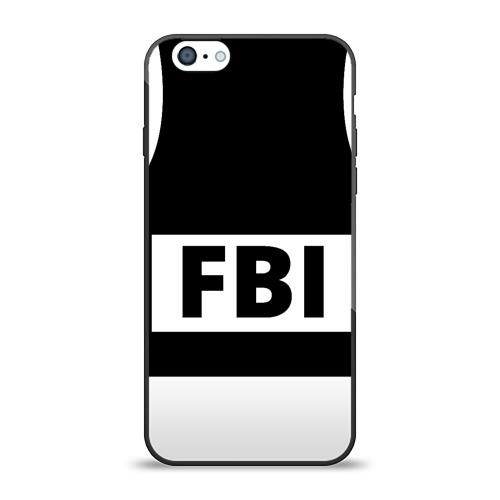 Чехол для Apple iPhone 6 силиконовый глянцевый Бронежилет ФБР (FBI) от Всемайки