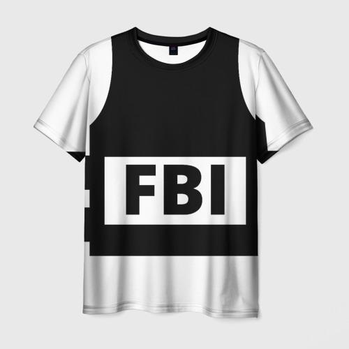 Мужская футболка 3D Бронежилет ФБР (FBI)