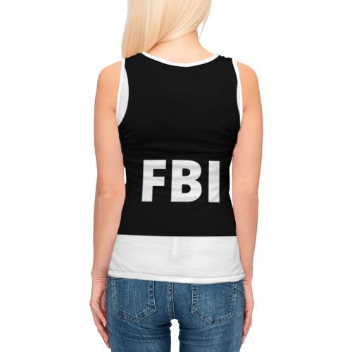 Женская майка 3D  Фото 04, Бронежилет ФБР (FBI)