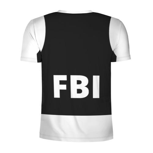 Мужская футболка 3D спортивная  Фото 02, Бронежилет ФБР (FBI)