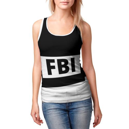Женская майка 3D  Фото 03, Бронежилет ФБР (FBI)