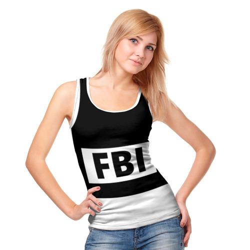 Женская майка 3D  Фото 05, Бронежилет ФБР (FBI)