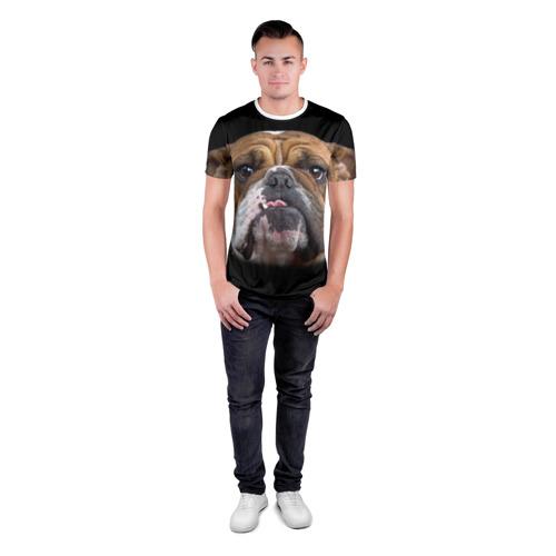 Мужская футболка 3D спортивная  Фото 04, Французский бульдог