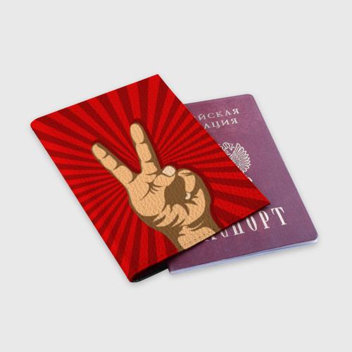 Обложка для паспорта матовая кожа  Фото 03, Всё Peace DATA