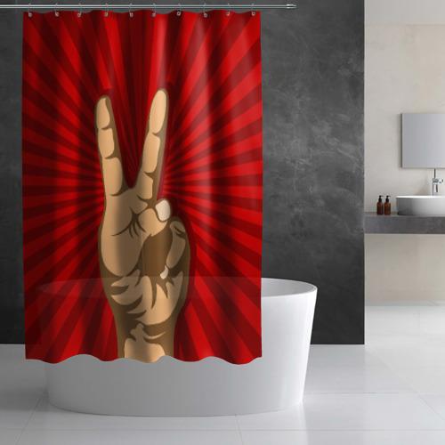 Штора 3D для ванной  Фото 02, Всё Peace DATA