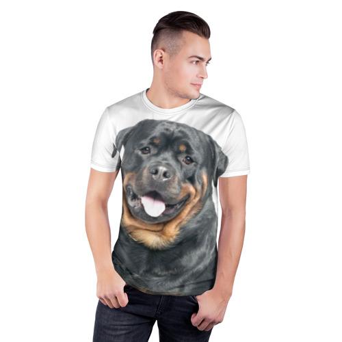 Мужская футболка 3D спортивная  Фото 03, Ротвейлер