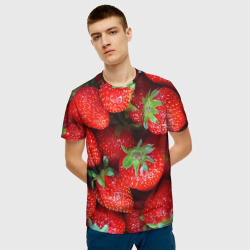 Мужская футболка 3D Клубничная Фото 01