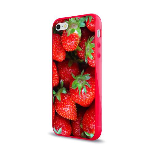 Чехол для Apple iPhone 5/5S силиконовый глянцевый Клубничная Фото 01