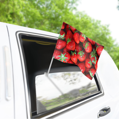 Флаг для автомобиля Клубничная Фото 01