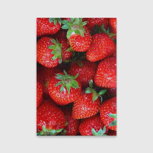 Обложка для паспорта матовая кожа Клубничная Фото 01