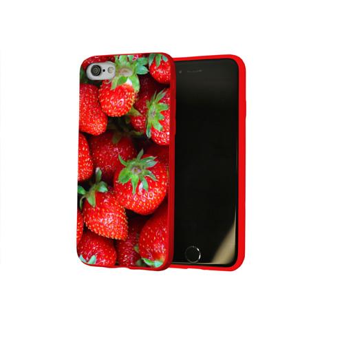 Чехол для Apple iPhone 8 силиконовый глянцевый Клубничная Фото 01