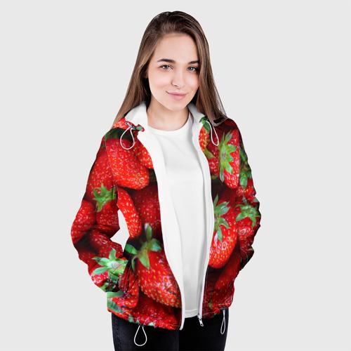 Женская куртка 3D Клубничная Фото 01