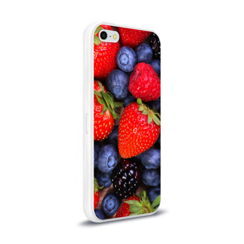 Чехол для Apple iPhone 5/5S силиконовый глянцевый  Фото 02, Berries
