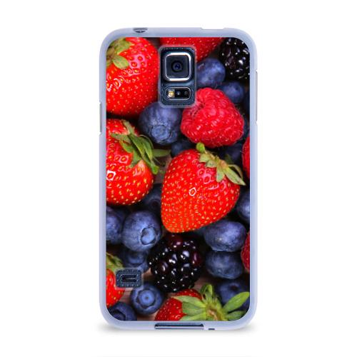 Чехол для Samsung Galaxy S5 силиконовый  Фото 01, Berries