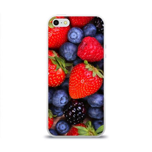 Чехол для Apple iPhone 5/5S силиконовый глянцевый  Фото 01, Berries