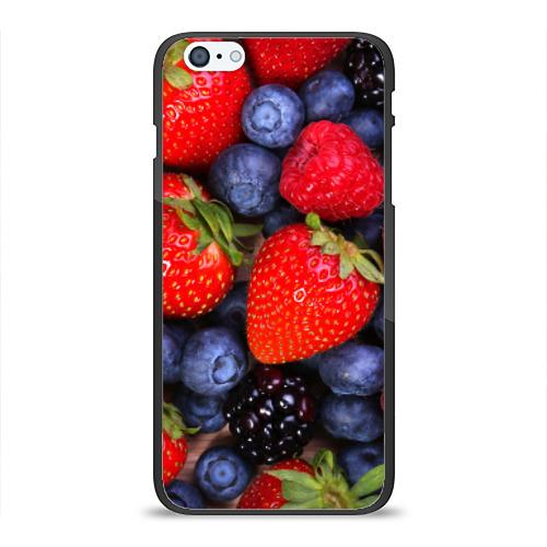 Чехол для Apple iPhone 6/6S Plus силиконовый глянцевый Berries от Всемайки