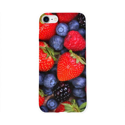 Чехол для Apple iPhone 8 силиконовый глянцевый  Фото 01, Berries