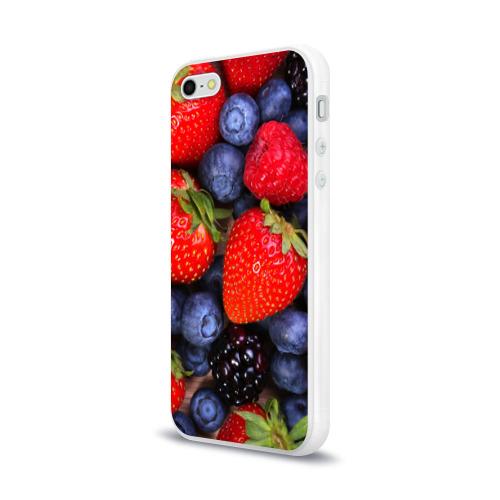Чехол для Apple iPhone 5/5S силиконовый глянцевый  Фото 03, Berries