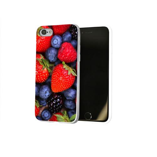 Чехол для Apple iPhone 8 силиконовый глянцевый  Фото 02, Berries