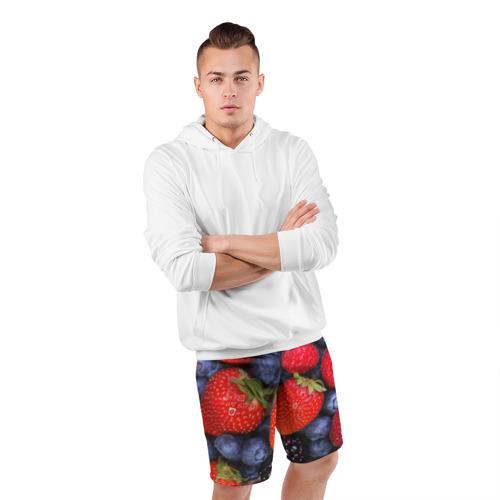Мужские шорты 3D спортивные  Фото 05, Berries