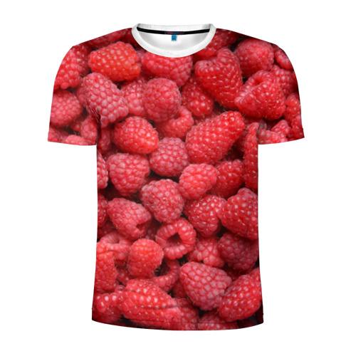 Мужская футболка 3D спортивная  Фото 01, Земляничная