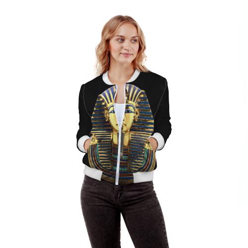 Женский бомбер 3D  Фото 03, Фараон Тутанхамон