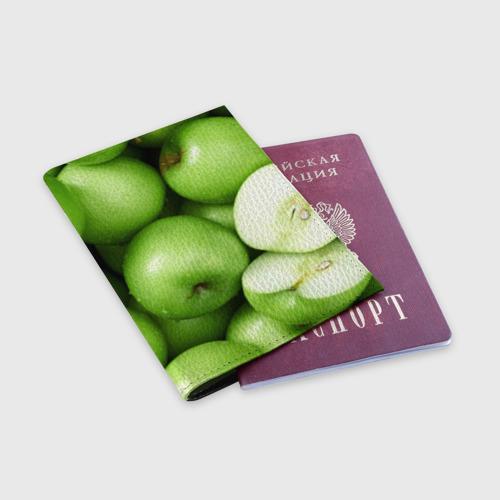 Обложка для паспорта матовая кожа  Фото 03, Яблочная