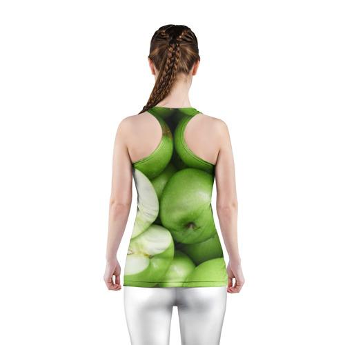 Женская майка 3D спортивная Яблочная Фото 01