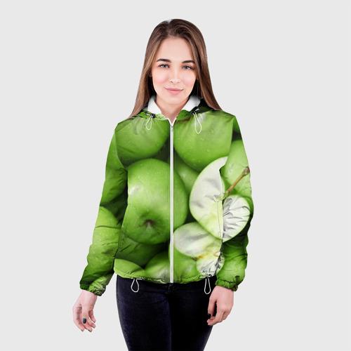 Женская куртка 3D  Фото 03, Яблочная