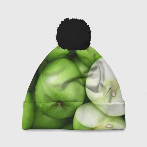 Шапка 3D c помпоном Яблочная