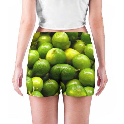 Женские шорты 3D  Фото 04, Лаймовая