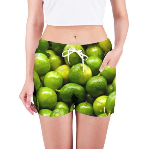 Женские шорты 3D Лаймовая