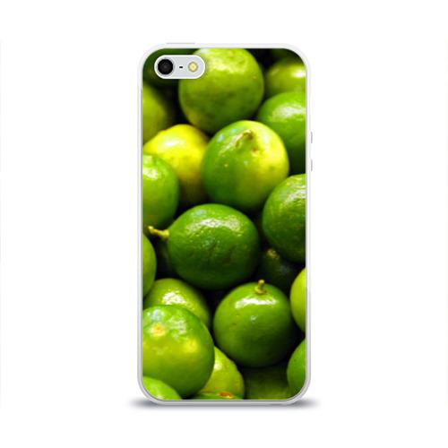 Чехол для Apple iPhone 5/5S силиконовый глянцевый  Фото 01, Лаймовая