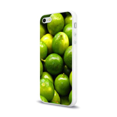 Чехол для Apple iPhone 5/5S силиконовый глянцевый  Фото 03, Лаймовая
