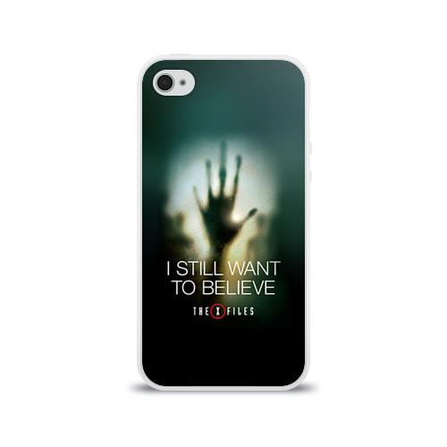 Чехол для Apple iPhone 4/4S силиконовый глянцевый  Фото 01, Секретные материалы 3