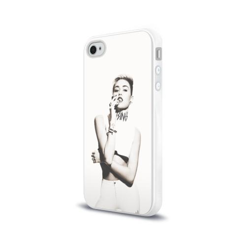 Чехол для Apple iPhone 4/4S силиконовый глянцевый  Фото 03, Miley