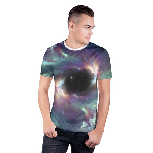 Мужская футболка 3D спортивная  Фото 03, Star light space