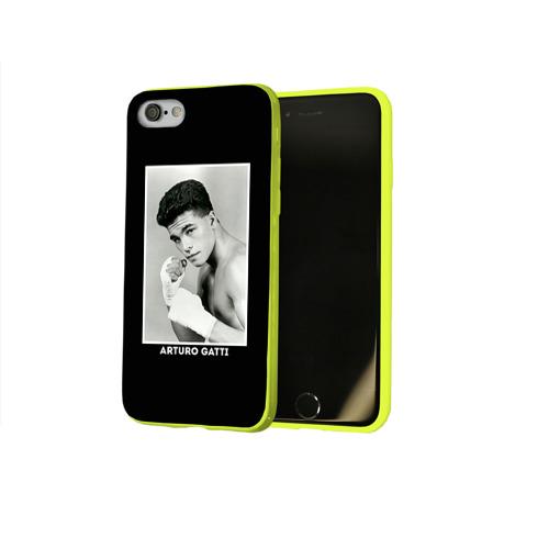 Чехол для Apple iPhone 8 силиконовый глянцевый Артуро Гатти чб Фото 01
